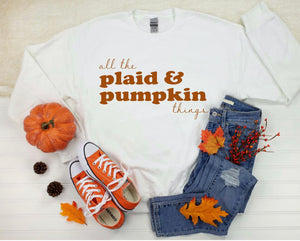 All the plaid and pumpkin things