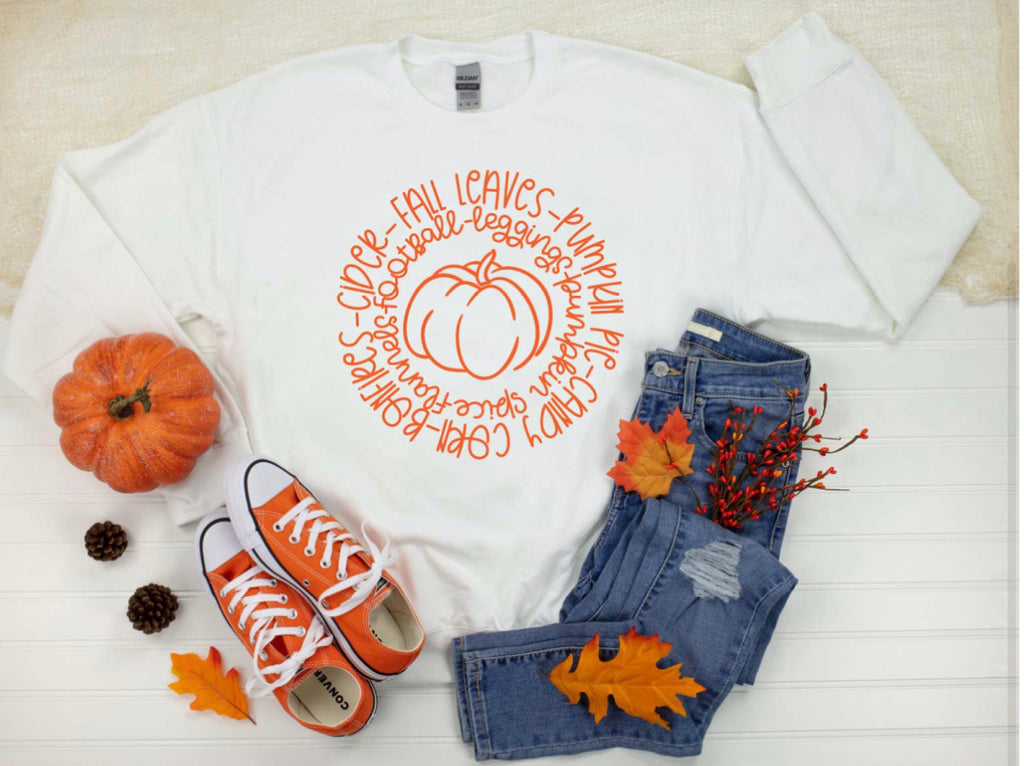 Fall tee and sweatshirt