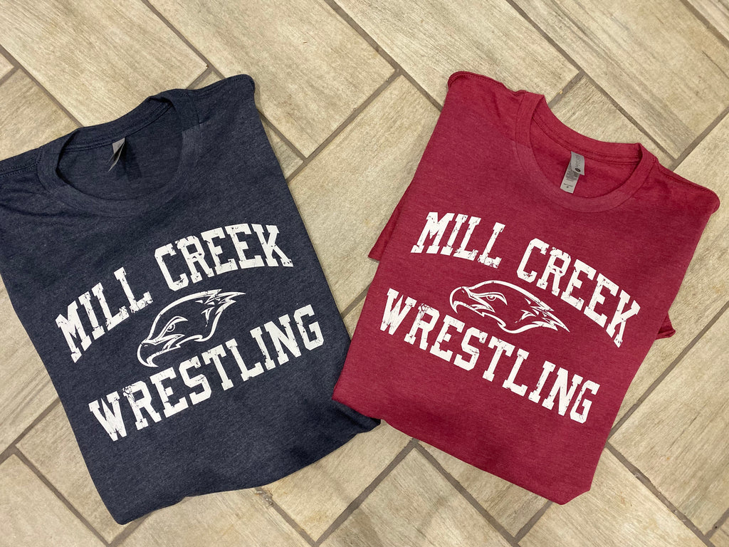Mill creek wrestling distressed