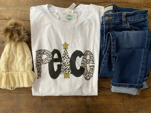 Peace holiday tee