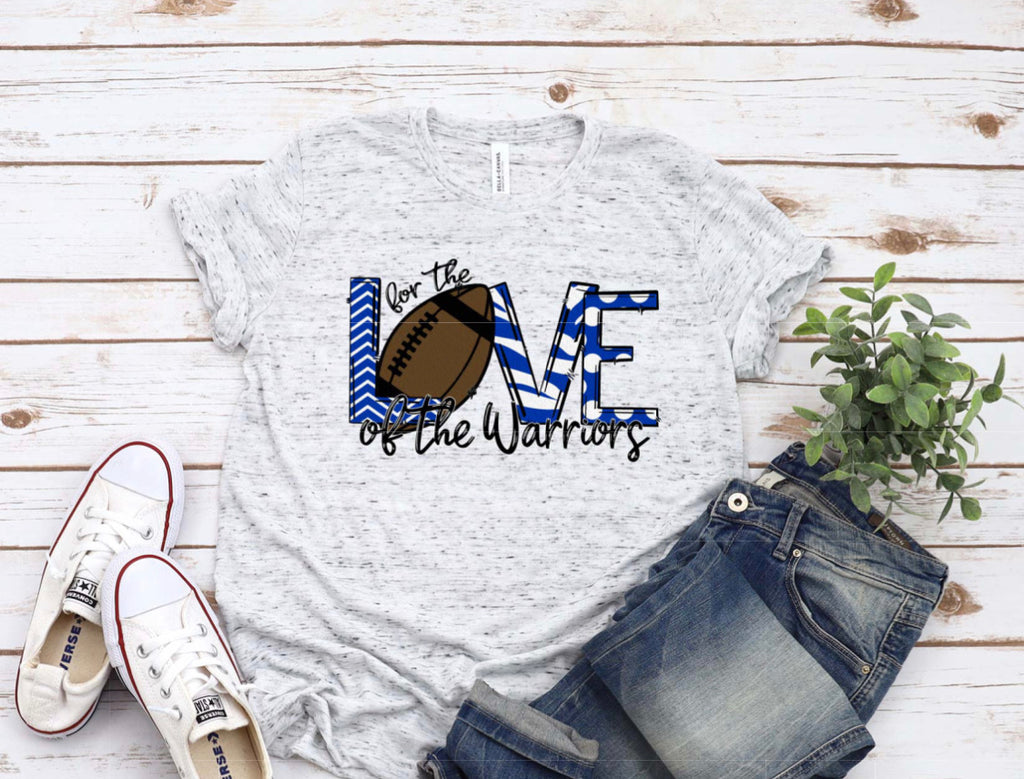 Warriors football tee for the love
