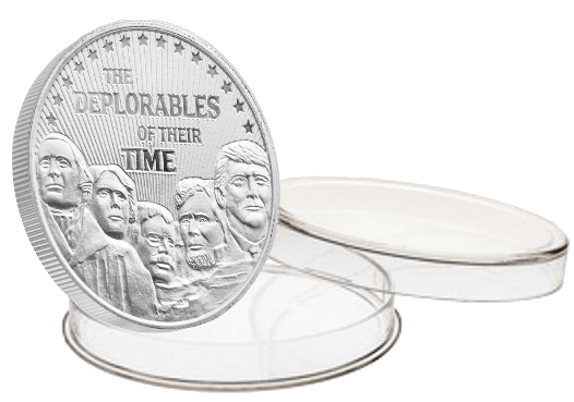 "Trump ""The Deplorables"" 1oz Silver Coin"