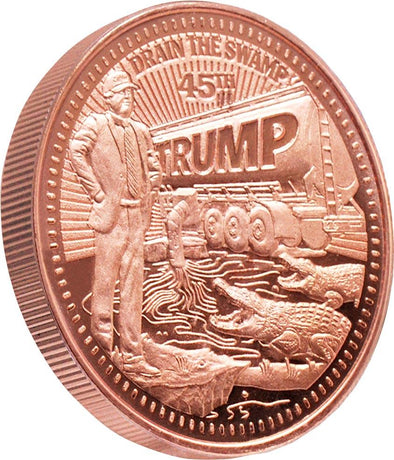 "Trump ""Drain The Swamp"" 1oz Copper Coin"