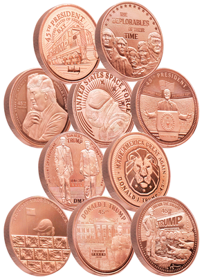 Trump Copper Collection - 10 Piece Complete Set