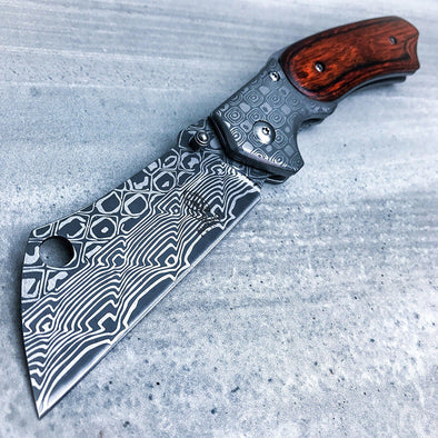 Razor Cleaver with Damascus finish