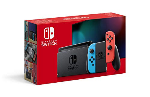 NINTENDO SWITCH - NEON RED AND BLUE - PACKAGING
