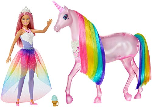 Barbie FXT26 - Dreamtopia Magical Unicorn - Princess Barbie and Unicorn