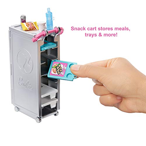 Barbie - Dreamplane Doll and Playset - food cart accessories