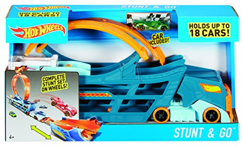 Hot Wheels DWN56 - Stunt and Go Truck - packaging
