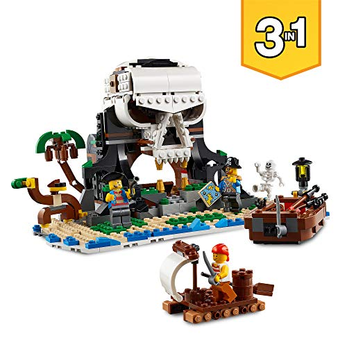 LEGO 31109 - 3 IN 1 PIRATE SHIP - SKULL ISLAND AND FIGURES