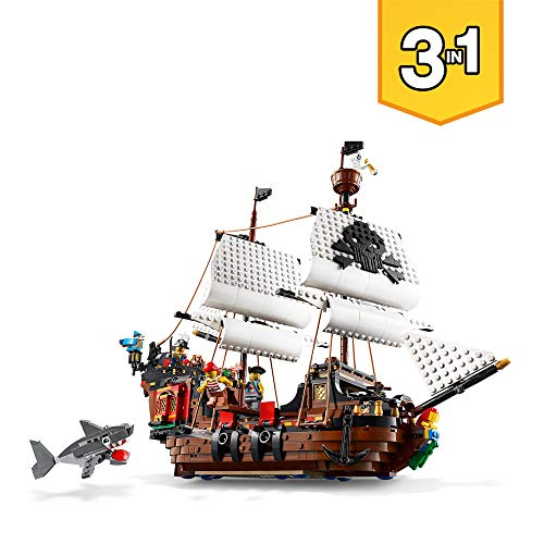 LEGO 31109 - 3 IN 1 PIRATE SHIP -  SHIP WITH SHARK AND FIGURES