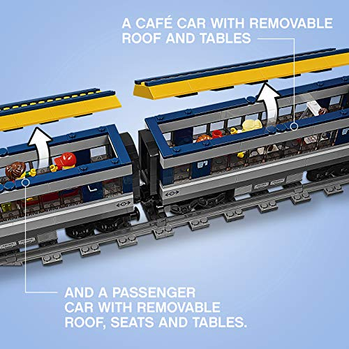 LEGO - CITY PASSENGER TRAIN SET - ROOF OPENING
