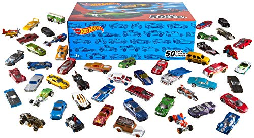 Hot Wheels V6697 - 50 Diecast Car Pack - All cars and storage box