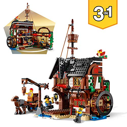 LEGO 31109 - 3 IN 1 PIRATE SHIP - INN PLACE SET UP