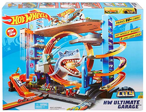 Hot Wheels FTB69 - City Garage with Loops and Shark - Packaging