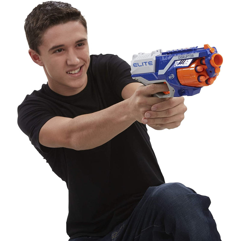 Nerf N-Strike Elite Disruptor child holding blaster