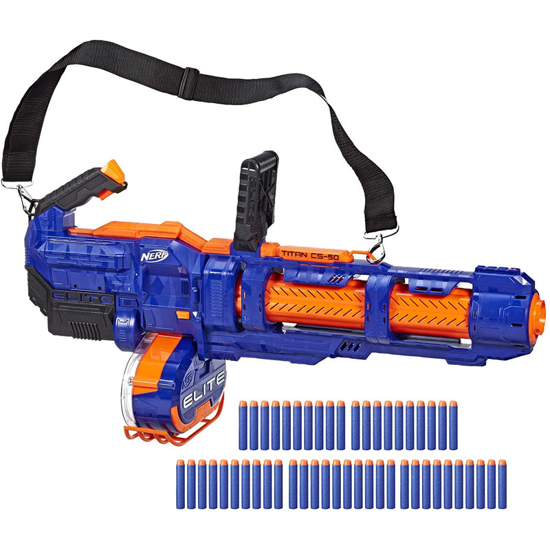 Nerf Elite Titan CS-50 blaster with darts