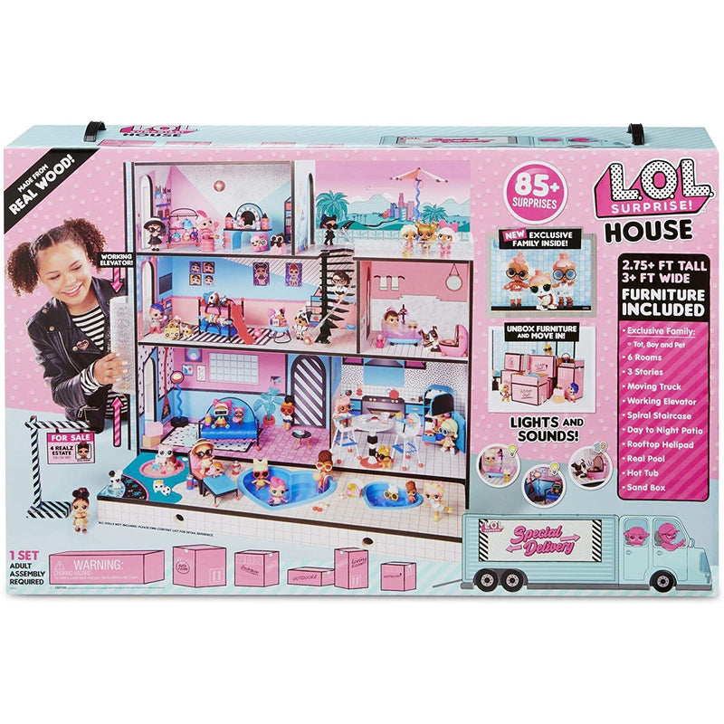 L.O.L Surprise! 560531E7C House with Real Wood - Packaging