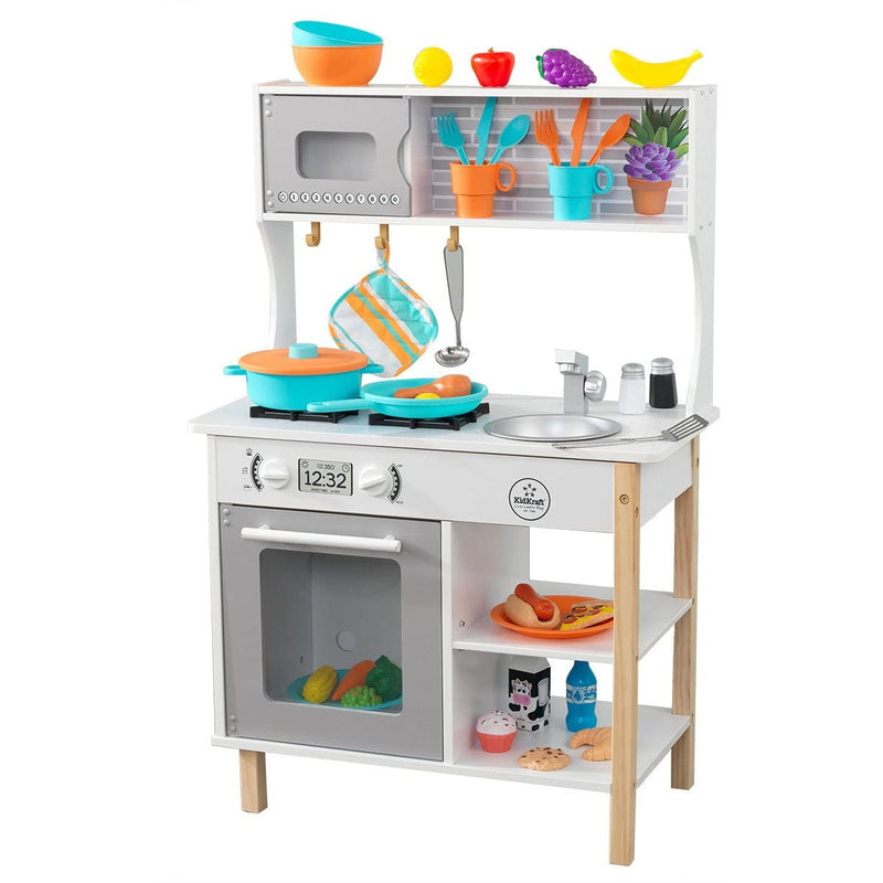 KidKraft All Time Play Kitchen full layout with accessories