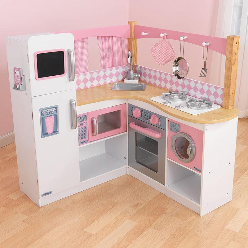 KidKraft Grand Gourmet Corner Kitchen with accessories