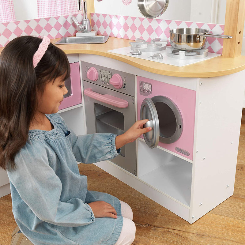 KidKraft Grand Gourmet Corner Kitchen washing machine