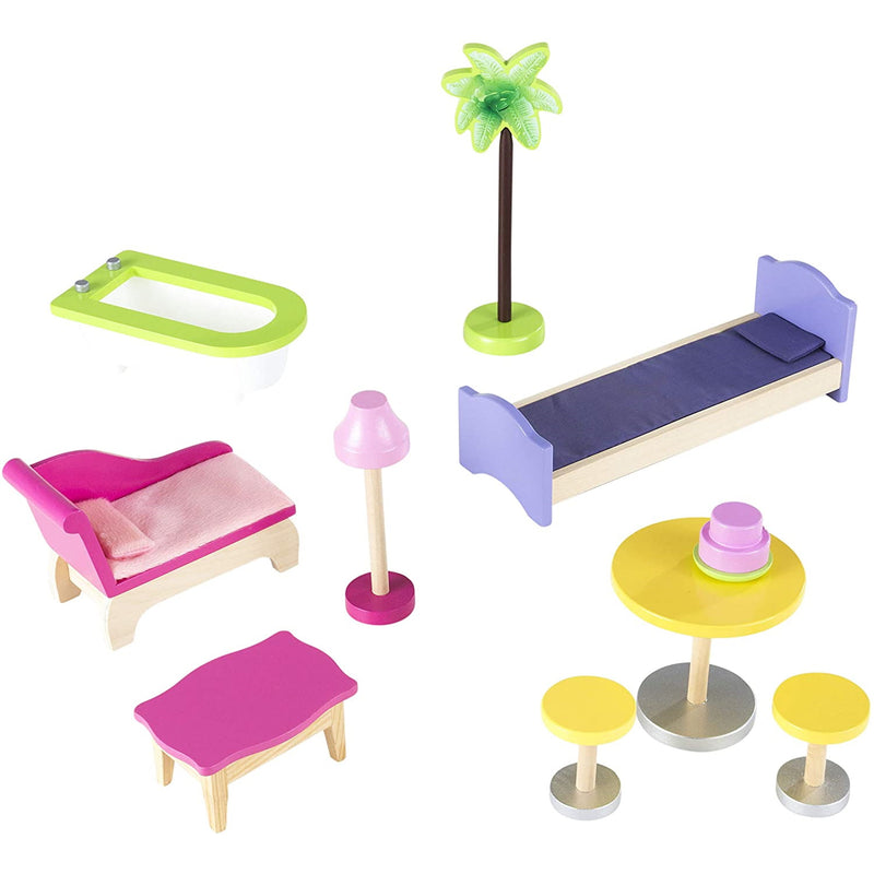 KidKraft Kayla Wooden Dolls House accessories