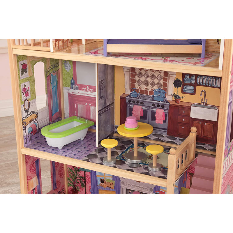 KidKraft Kayla Wooden Dolls House bathroom and kitchen