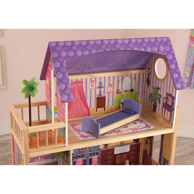 KidKraft Kayla Wooden Dolls House attic bedroom and balcony