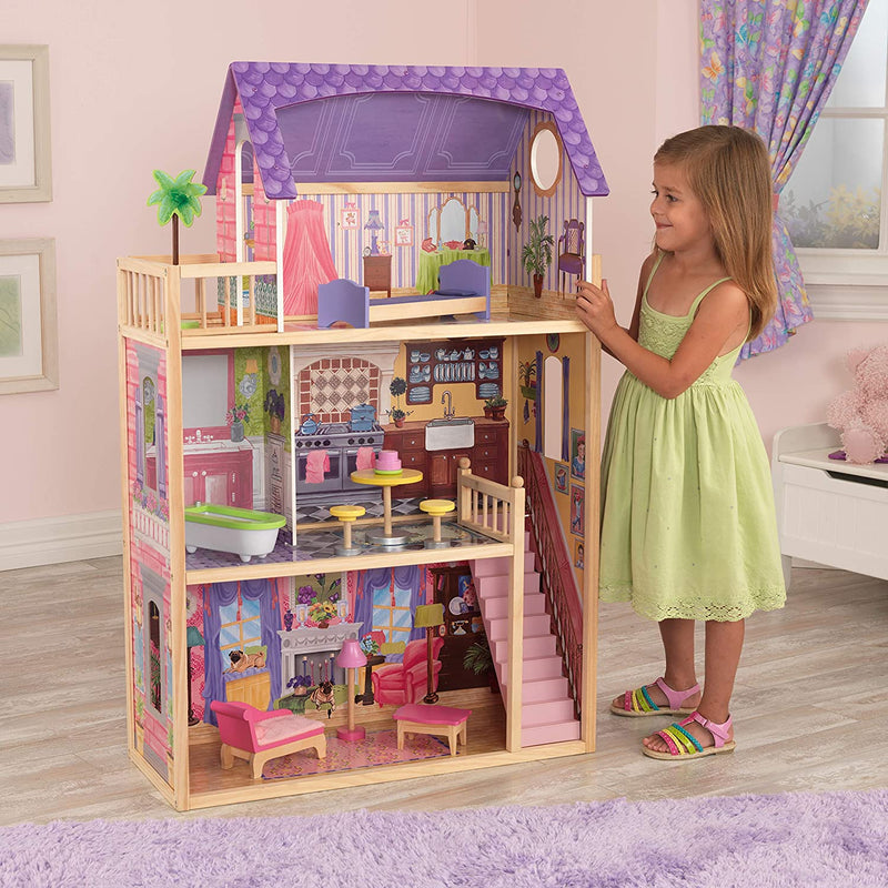 KidKraft Kayla Wooden Dolls House child standing