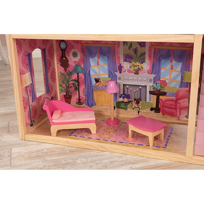 KidKraft Kayla Wooden Dolls House lounge layout