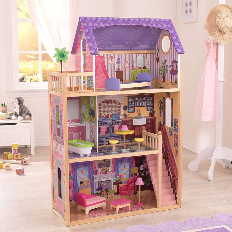 KidKraft Kayla Wooden Dolls House full set up