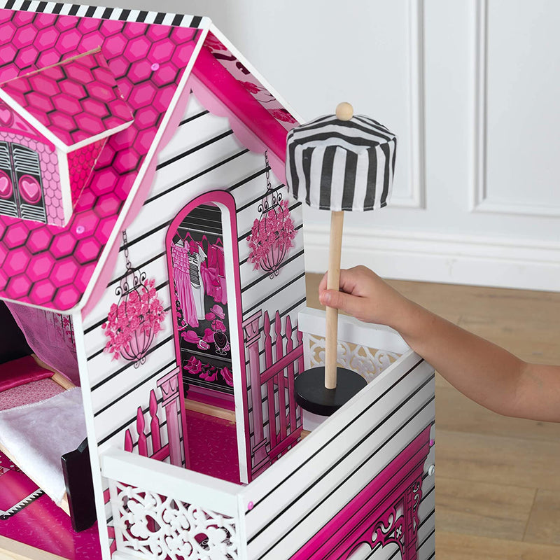 KidKraft Amelia Wooden Dolls House balcony