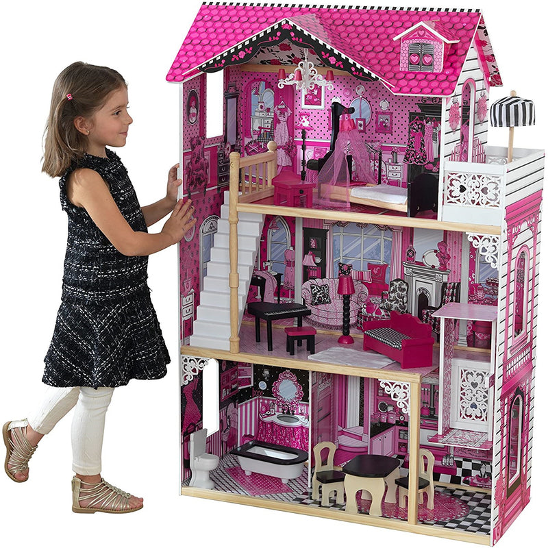 KidKraft Amelia Wooden Dolls House Child standing