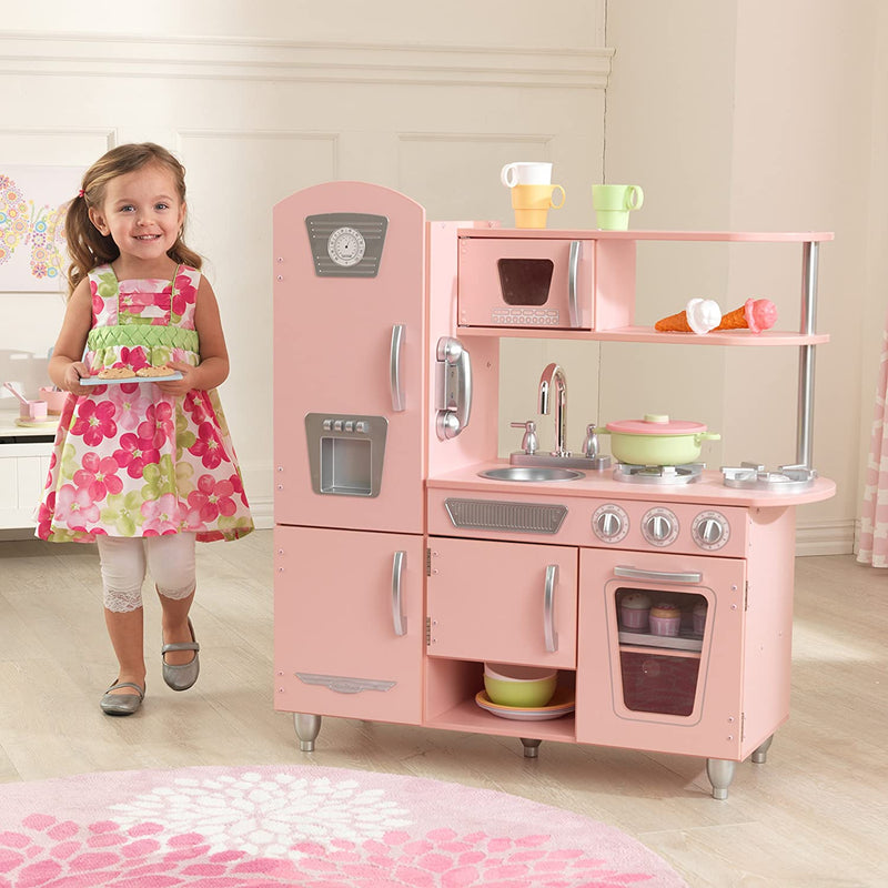 KidKraft Pink Vintage Kitchen Child and accessories