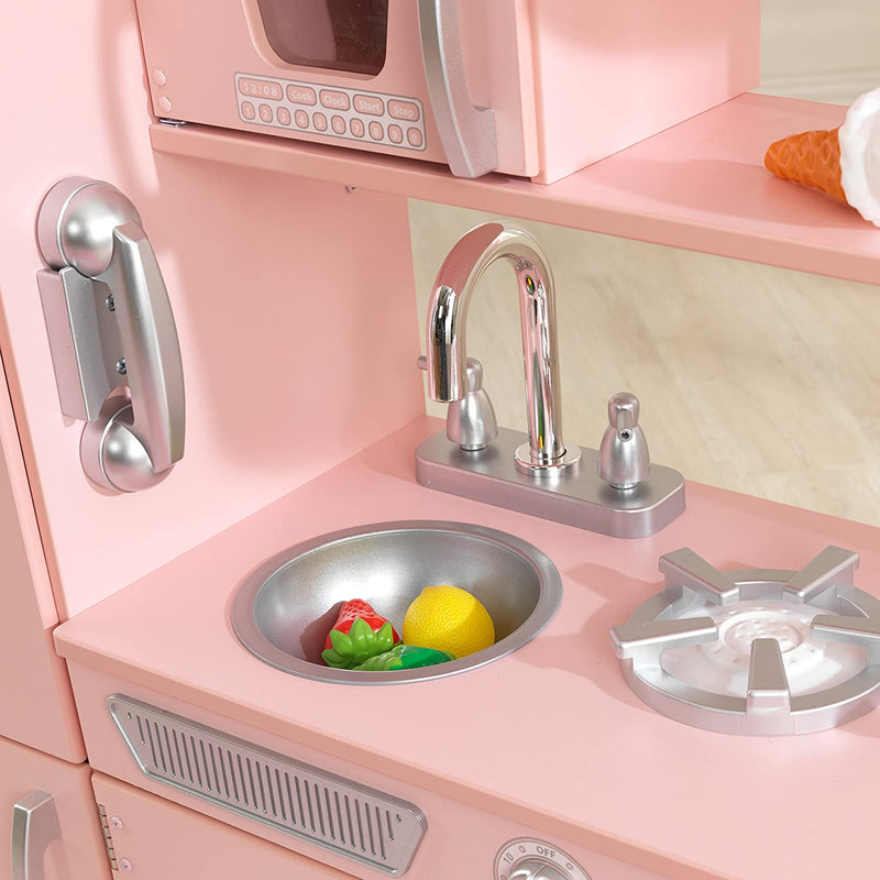 KidKraft Pink Vintage Kitchen Sink and phone
