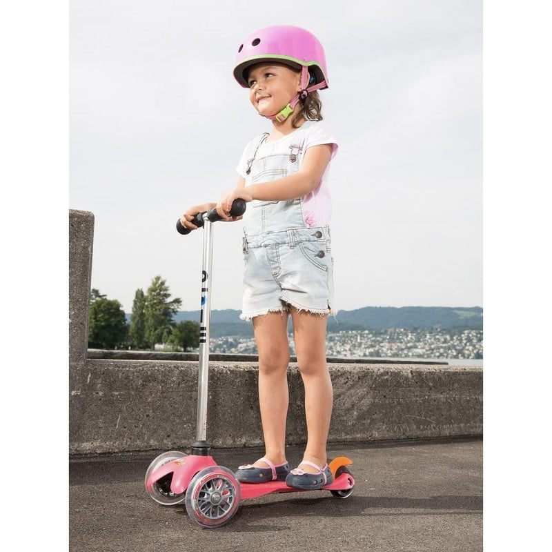 Micro Mini Scooter Pink child riding