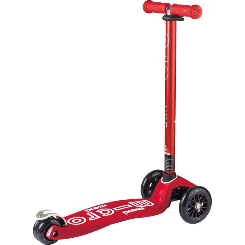 Micro Maxi Deluxe Red wheels and frame