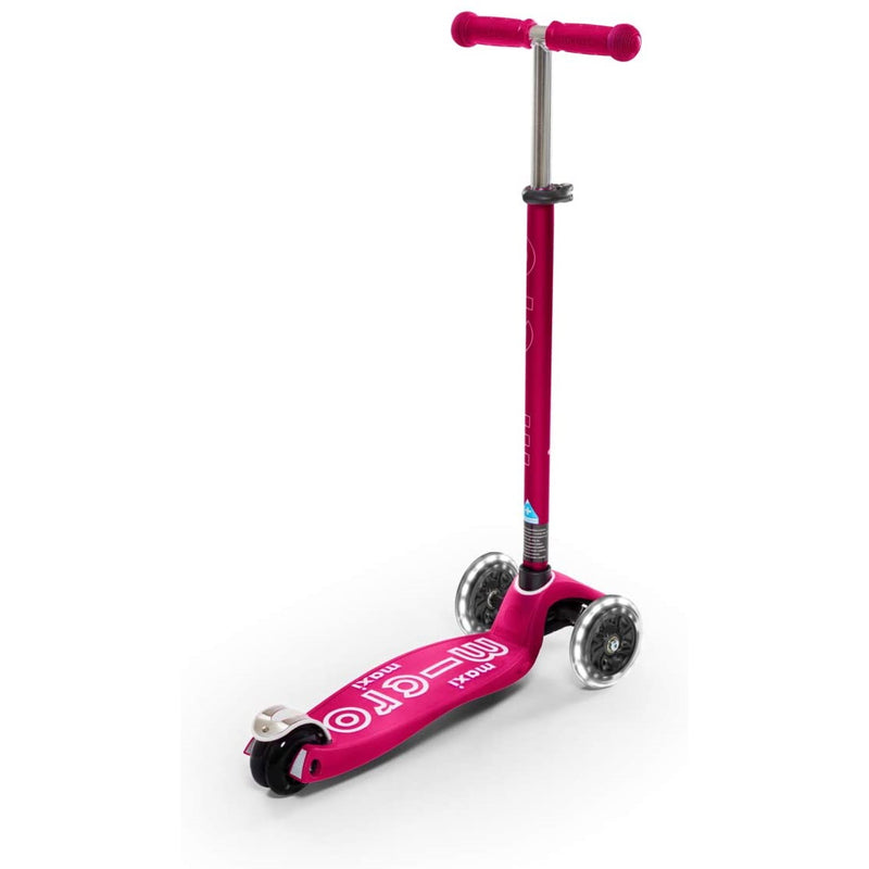 Maxi Deluxe LED Pink Scooter adjustable handlebars