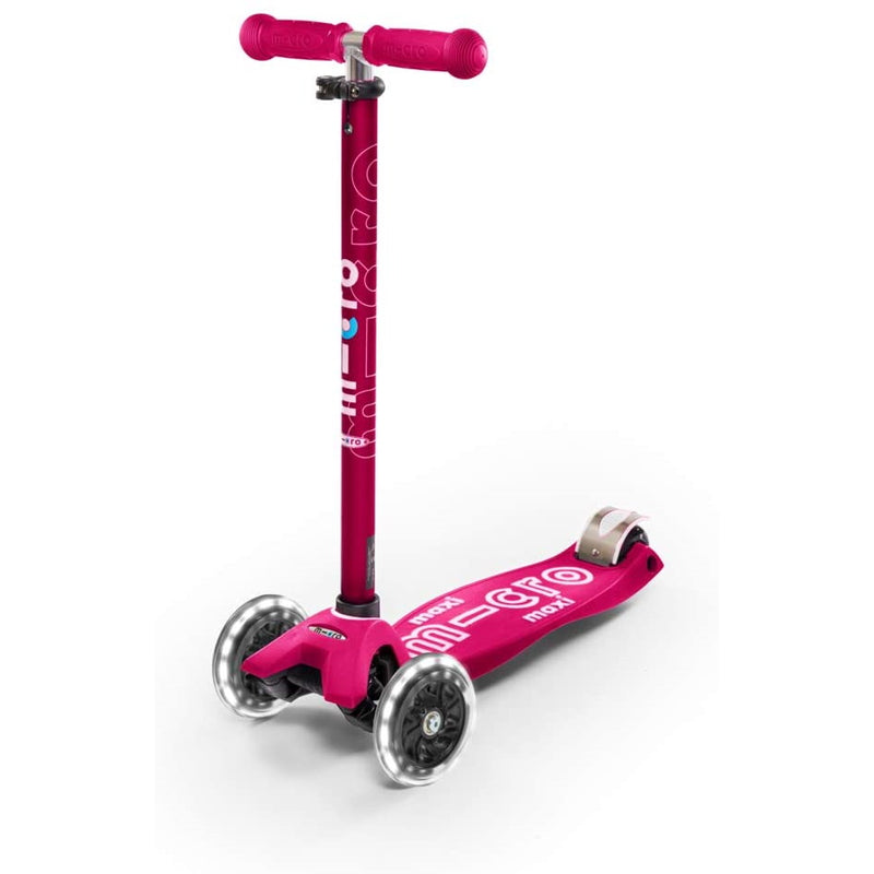 Maxi Deluxe LED Pink Scooter Front