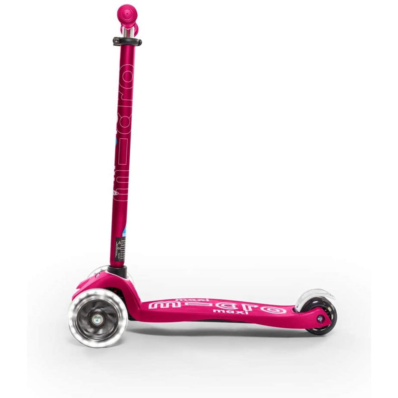 Maxi Deluxe LED Pink Scooter sideview and lights