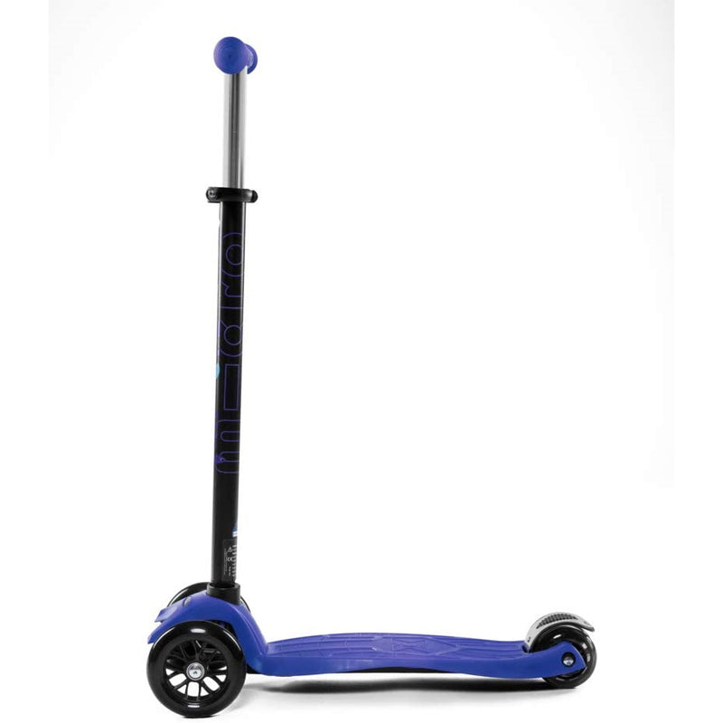 Micro Maxi Blue Scooter side view and wheels
