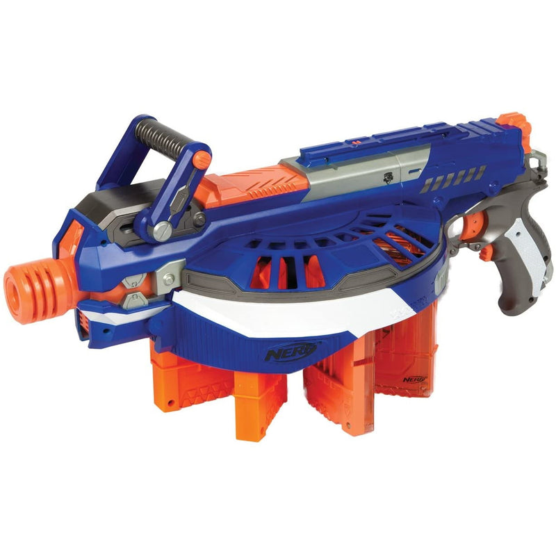 Nerf N-strike Elite Hail Fire fully loaded