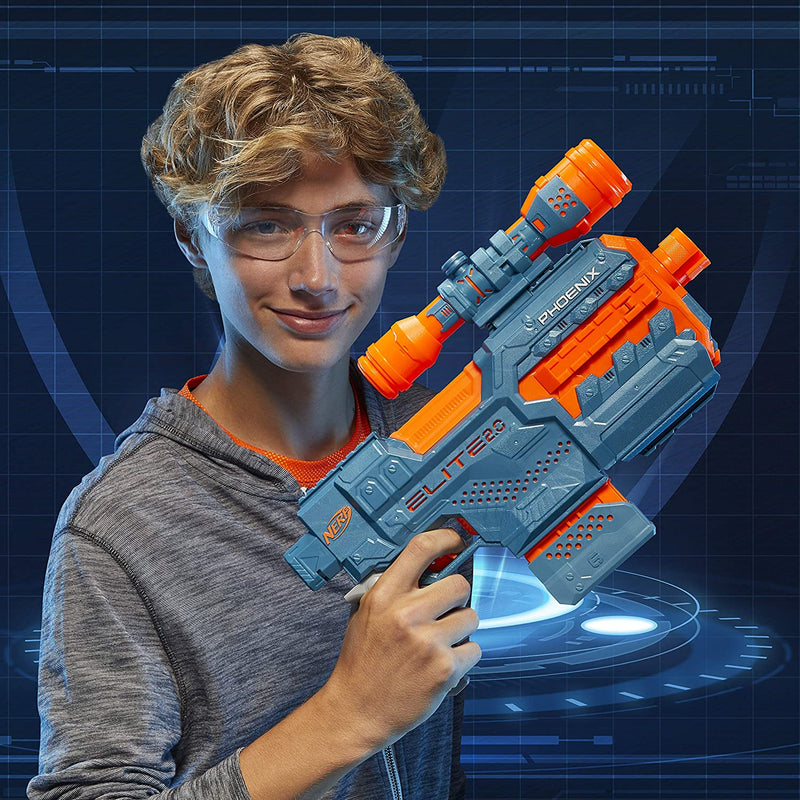 Nerf Elite 2.0 Phoenix child holding blaster