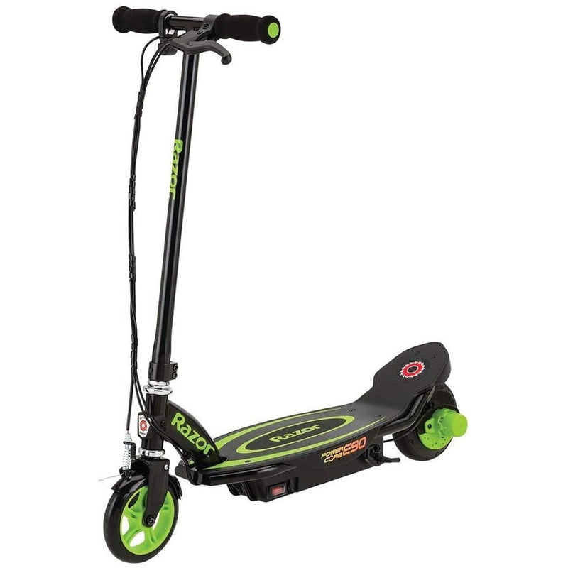 Razor Power Core E90 Electric Scooter green front view