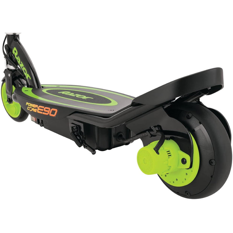 Razor Power Core E90 Electric Scooter back wheel and brake