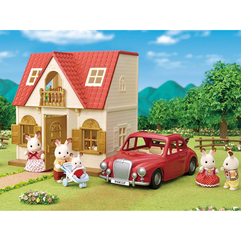 Sylvanian Families 5448 Family Cruising Car in family setting with accessories