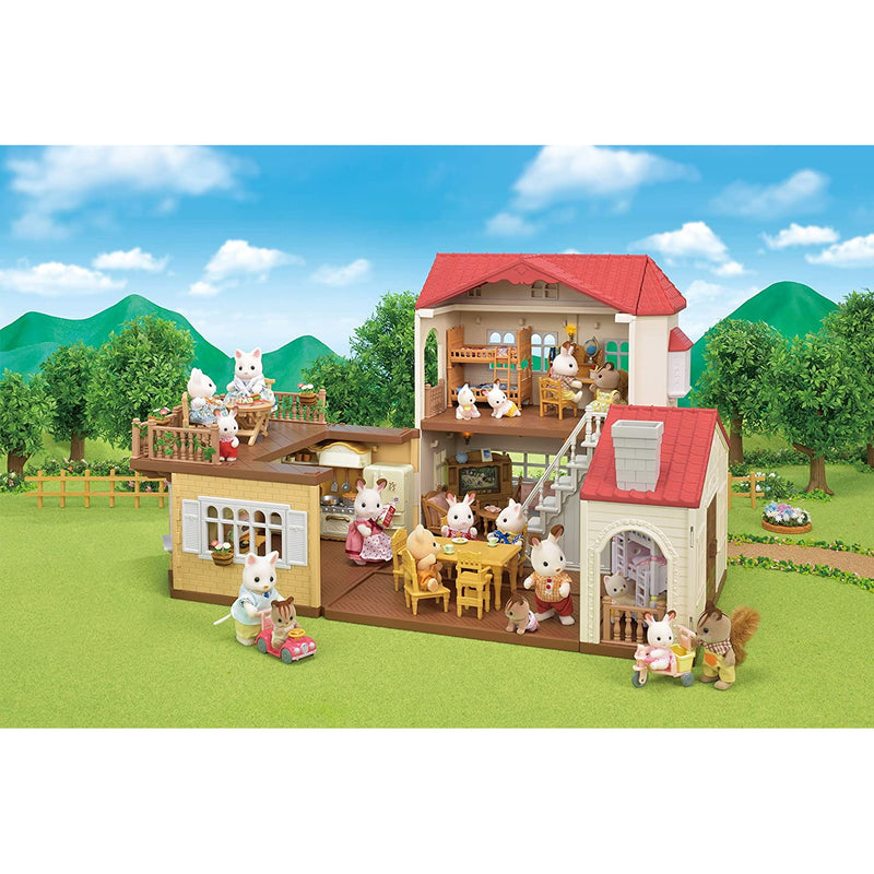 Sylvanian Families 5480 Red Roof Country Home with all accessories