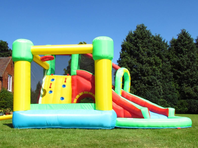 BeBop 8 in 1 bouncy castle with climbing wall