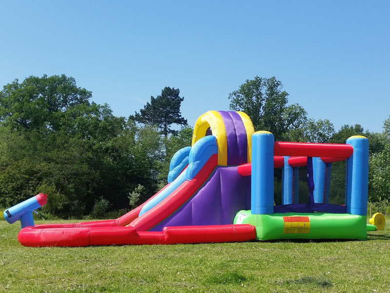 Bebop Total Wipeout Water Slide and Bouncy Castle With Cannon