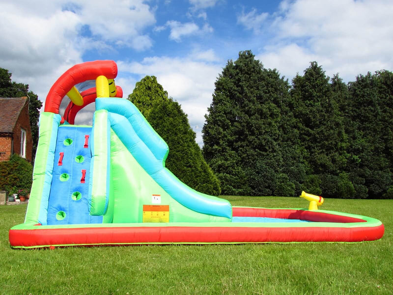 Neptune inflatable water slide and climb wall